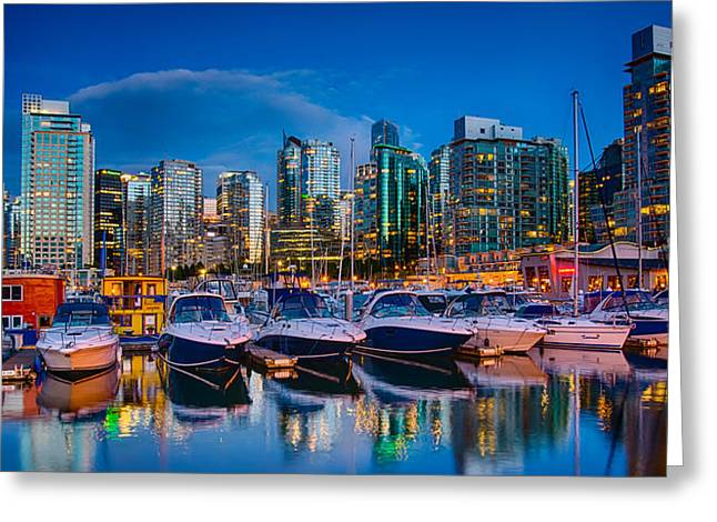 Vancouver Greeting Cards - Coal Harbour Greeting Card by Ian Stotesbury