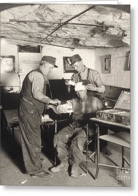 Anthracite Greeting Cards - COAL MINE HOSPITAL, c1917 Greeting Card by Granger