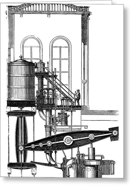 Coal Mine Pump Greeting Card by Science Photo Library