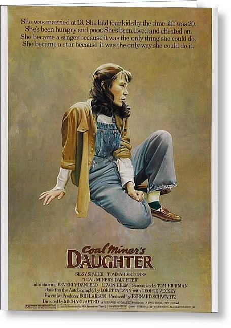 Movie Poster Gallery Greeting Cards - Coal Miners Daughter  Greeting Card by Movie Poster Prints