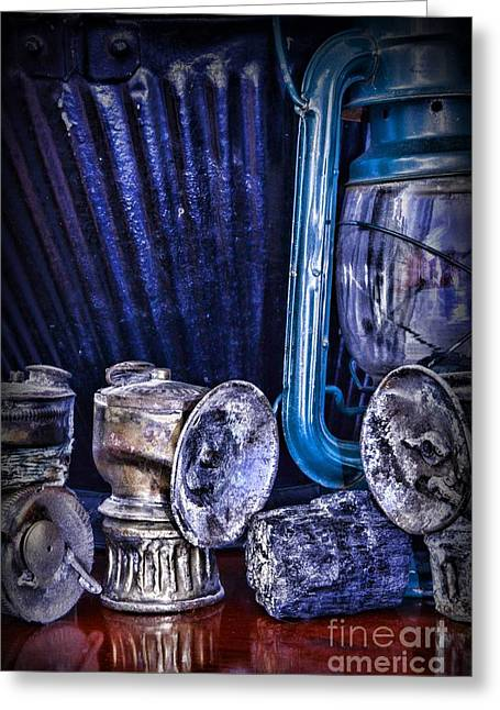 Coal Miner's Gear Greeting Card by Paul Ward