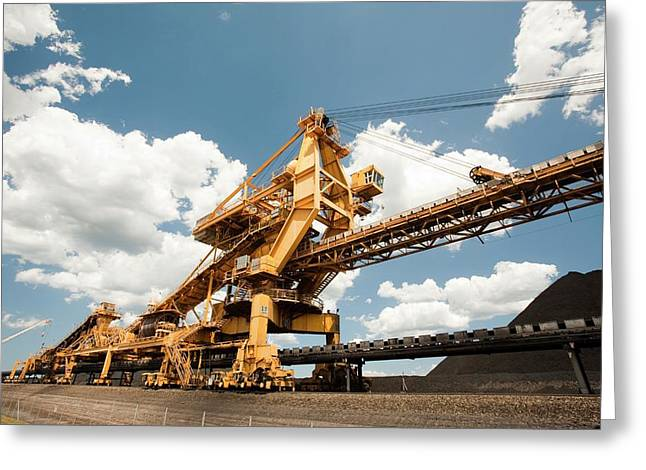 Coal Moving Machinery Greeting Card by Ashley Cooper