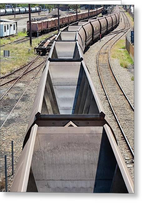 Coal Train Greeting Card by Ashley Cooper