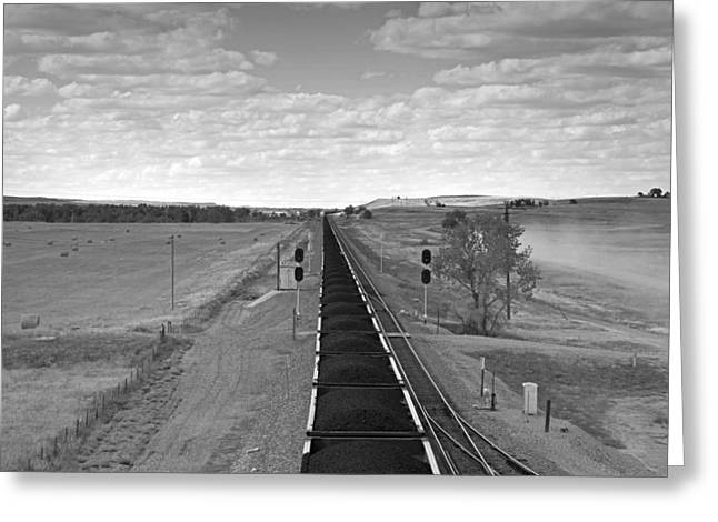 Railway Transportation Greeting Cards - Coal Train Greeting Card by Mountain Dreams