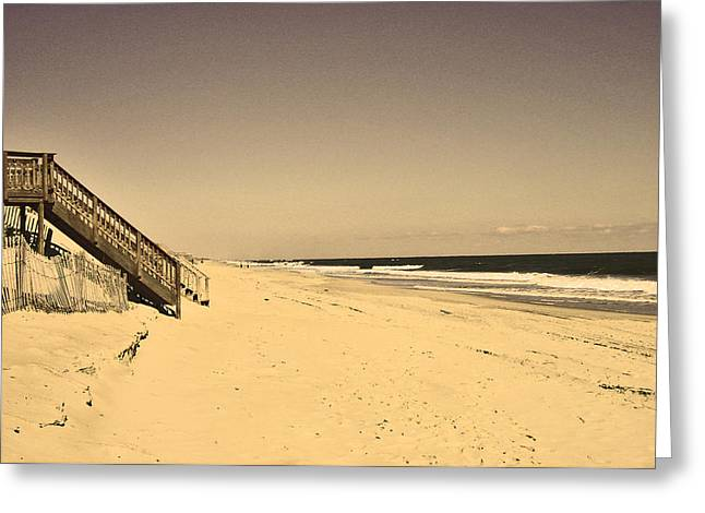 Ocaen Greeting Cards - coast at Outer Banks Greeting Card by M Bleichner