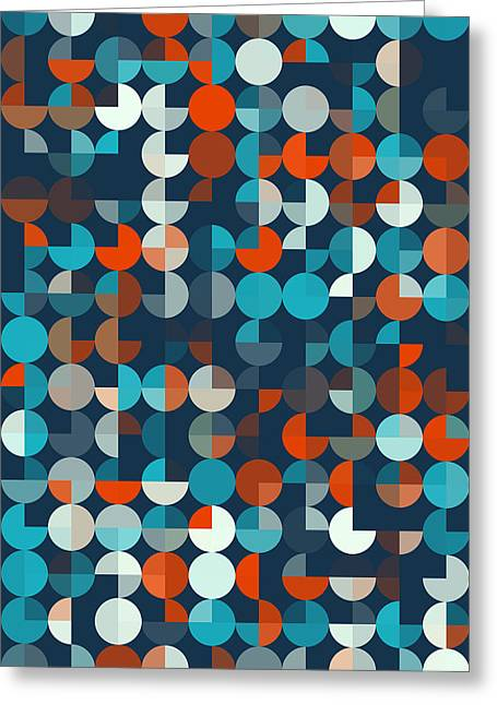 Vector Greeting Cards - Coast Geometric Circle Pie Vertical Pattern Greeting Card by Frank Ramspott