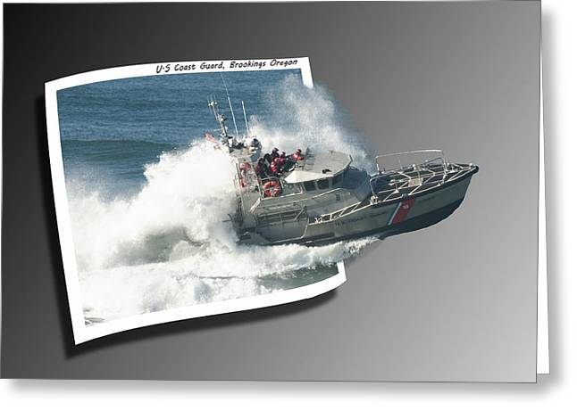 Oof Greeting Cards - Coast Guard Greeting Card by Betty Depee