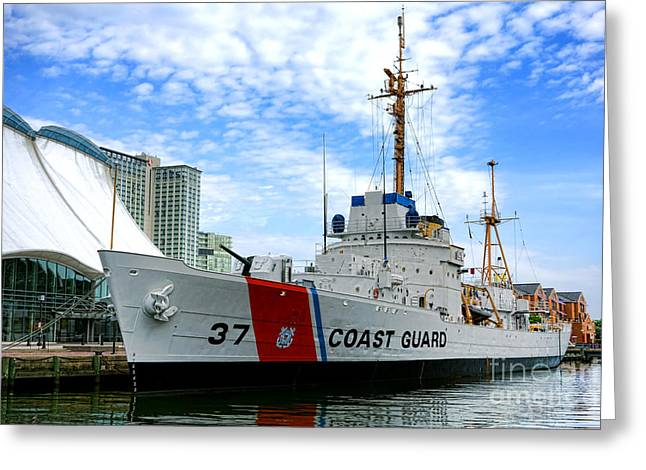 Coast Guard Greeting Cards - Coast Guard Cutter Taney Greeting Card by Olivier Le Queinec