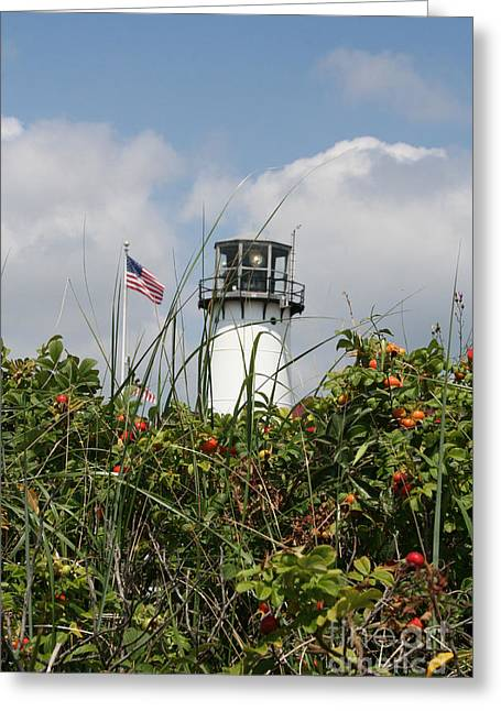 Chatham Greeting Cards - Coast Guard Lighthouse Chatham MA Greeting Card by John Turek