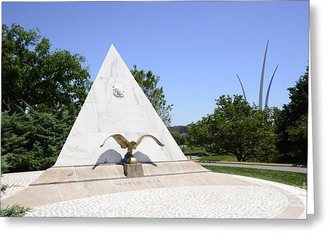 Arlington Greeting Cards - Coast Guard Memorial - 1 Greeting Card by Paul W Faust -  Impressions of Light