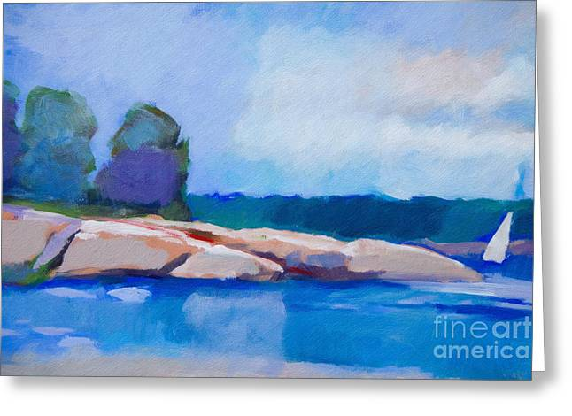 Featured Art Greeting Cards - Coast Impression II Greeting Card by Lutz Baar