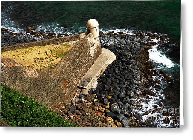 Old San Juan Greeting Cards - Coast Lookout Greeting Card by John Rizzuto