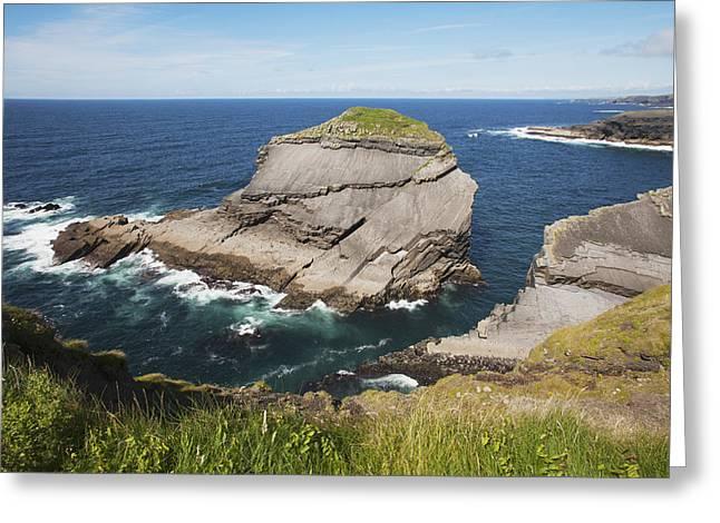Cliffs Over Ocean Greeting Cards - Coast Near Kilkee_ County Clare, Ireland Greeting Card by Carl Bruemmer