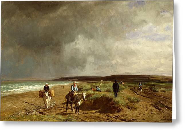 Constant Greeting Cards - Coast near Villers Greeting Card by Constant Troyon