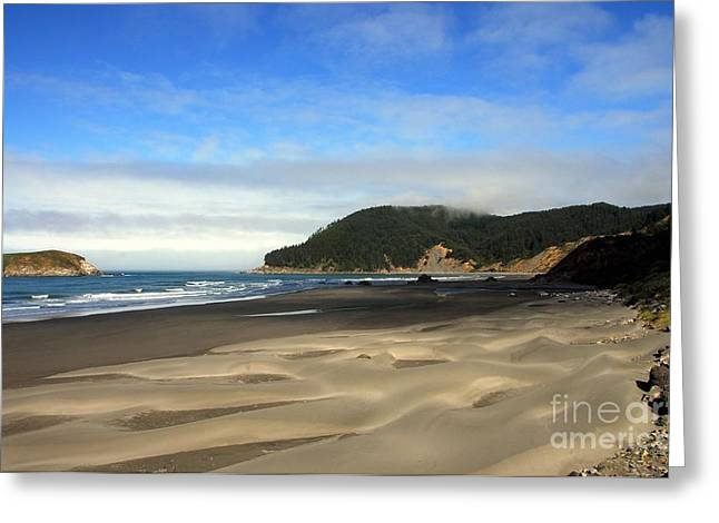 Blue Green Wave Greeting Cards - Coast Of Dreams 9 Greeting Card by Mel Steinhauer