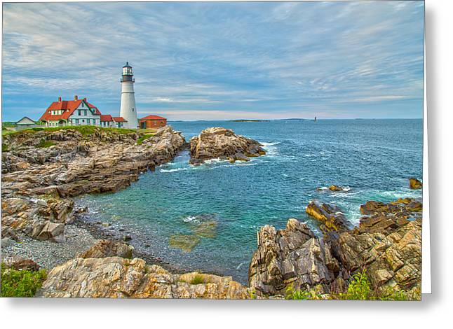 Maine Shore Greeting Cards - Coast Of Maine Greeting Card by Karol  Livote