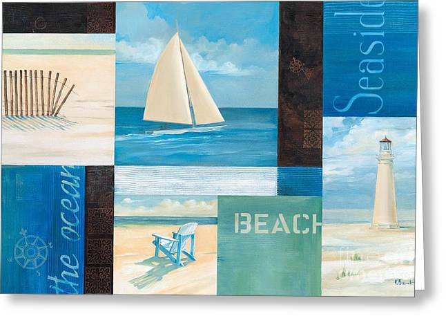 Sand Dunes Paintings Greeting Cards - Coastal Breeze I Greeting Card by Paul Brent
