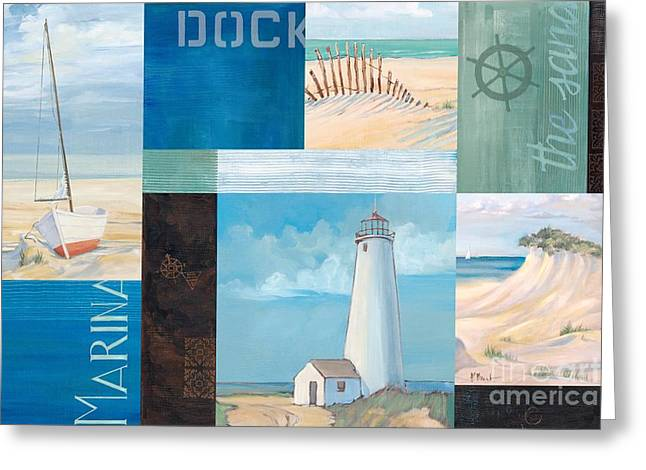 Sand Dunes Paintings Greeting Cards - Coastal Breeze II Greeting Card by Paul Brent