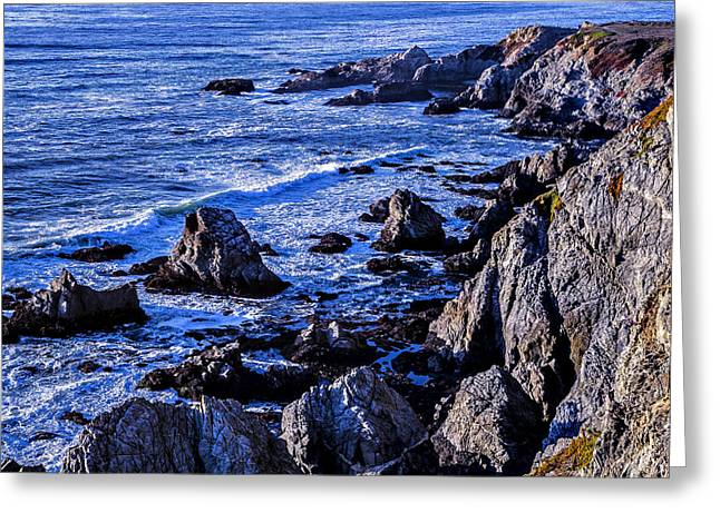 Gorgeous Greeting Cards - Coastal Cliffs Greeting Card by Garry Gay