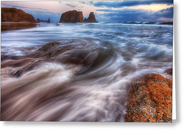 Darren Greeting Cards - Coastal Flow Greeting Card by Darren  White