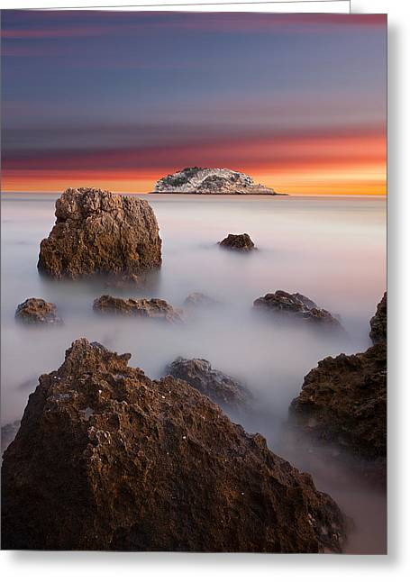 Waterscape Greeting Cards - Coastal glory Greeting Card by Jorge Maia