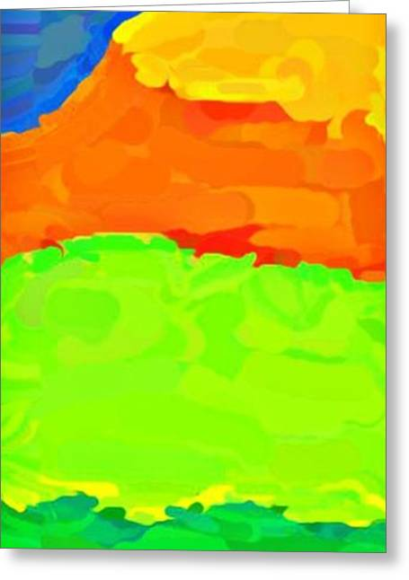 Abstract Beach Landscape Greeting Cards - Coastal Highway Greeting Card by Lauranns Etab