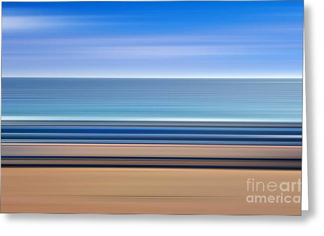 Movement. Blur Greeting Cards - Coastal horizon 1 Greeting Card by Delphimages Photo Creations