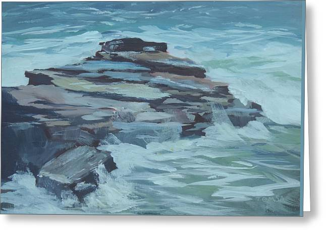 Maine Shore Greeting Cards - Coastal Inspiration Greeting Card by Bill Tomsa