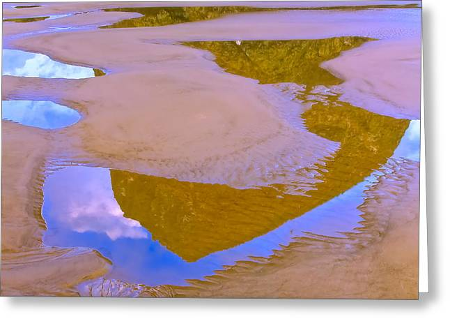 Ocean Photography Greeting Cards - Coastal Landscape in abstract 1 Greeting Card by Jonathan Nguyen
