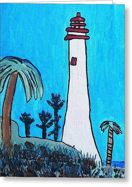 Brandon Drucker Greeting Cards - Coastal Lighthouse Greeting Card by Brandon Drucker