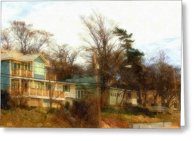 Coastal Living On The Dunes Of The Big Lake Greeting Card by Rosemarie E Seppala