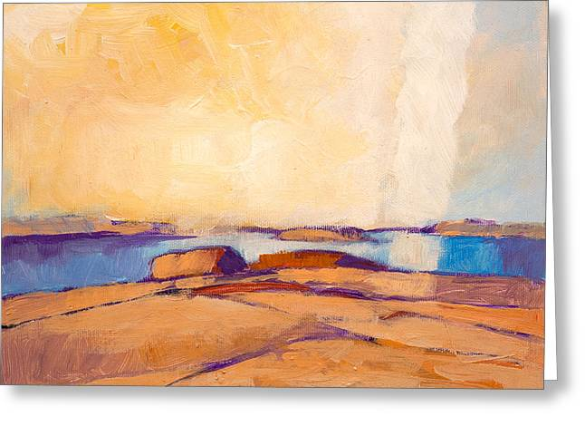 Abstractions Greeting Cards - Coastal Greeting Card by Lutz Baar