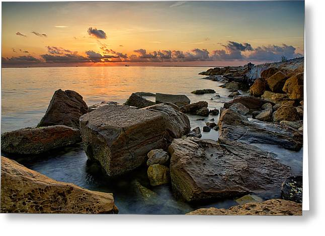 Tx Greeting Cards - Coastal Morning Greeting Card by Thomas Zimmerman