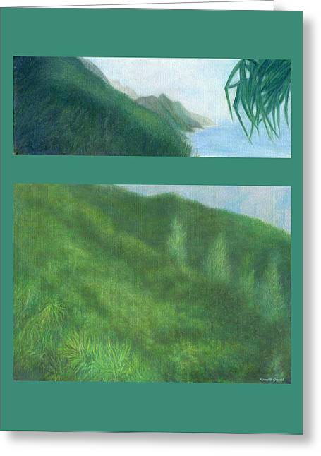 Relaxed Pastels Greeting Cards - Coastal Na Pali Greeting Card by Kenneth Grzesik