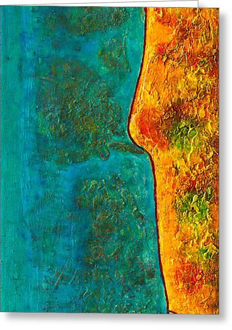 California Beach Art Greeting Cards - Coastal North County San Diego Greeting Card by Grant Fraker