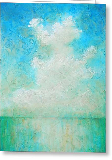 Clouds Paintings Greeting Cards - Coastal Greeting Card by Pam Talley