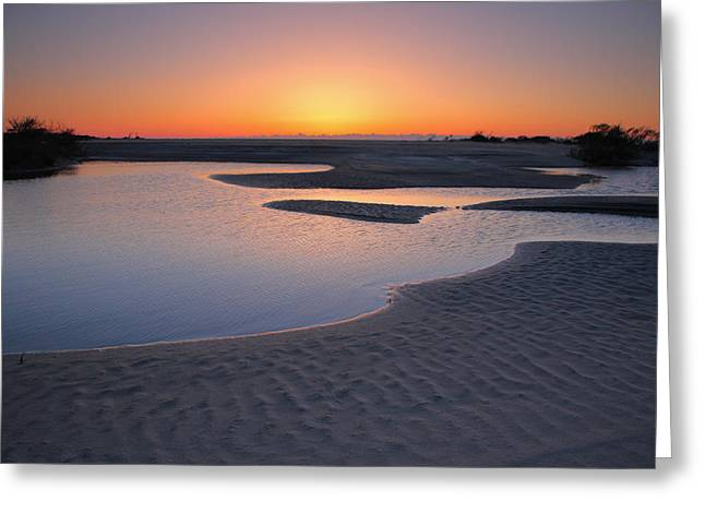 Pond Framed Prints Greeting Cards - Coastal Ponds At Sunrise II Greeting Card by Steven Ainsworth