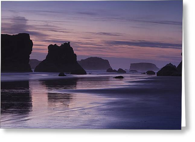 Ocean Art Photographs Greeting Cards - Coastal Reflections Greeting Card by Andrew Soundarajan