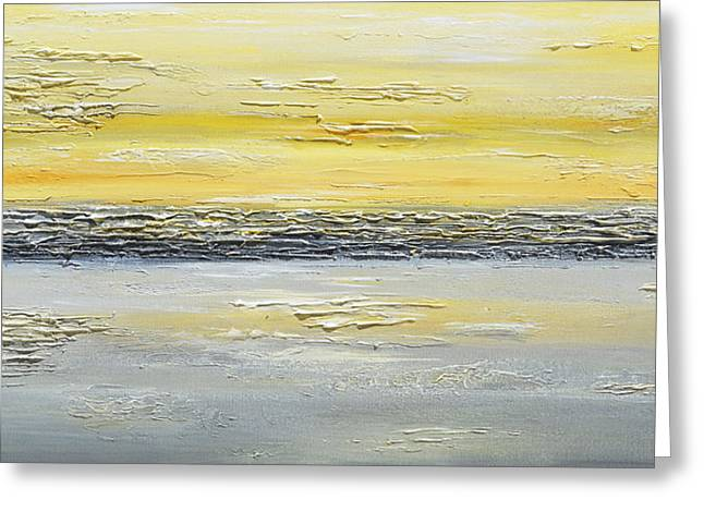 Artist Christine Krainock Greeting Cards - Coastal Reflections Greeting Card by Christine Krainock