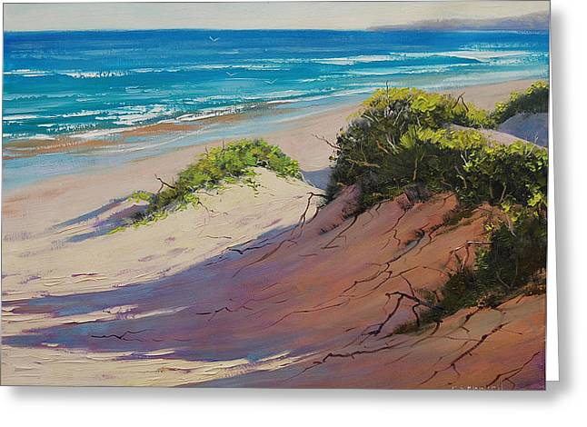 Sand Dunes Paintings Greeting Cards - Coastal Sand Greeting Card by Graham Gercken