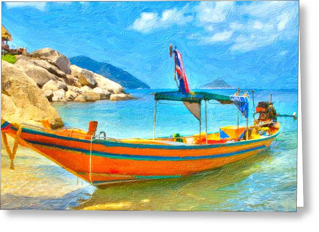 Greater Antilles Greeting Cards - Coastal scenery 1 Greeting Card by Lanjee Chee