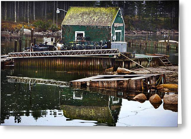 Lobster Shack Greeting Cards - Coastal Shack Greeting Card by Don Powers