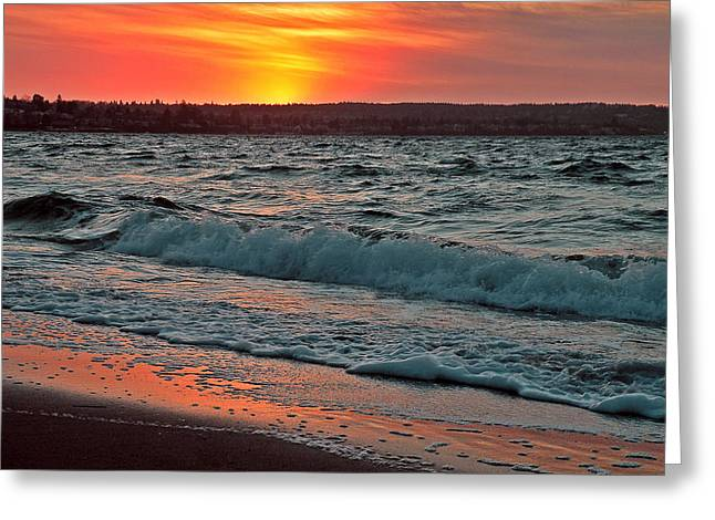 Sunset Framed Prints Greeting Cards - Coastal Sunset Greeting Card by Brian Chase