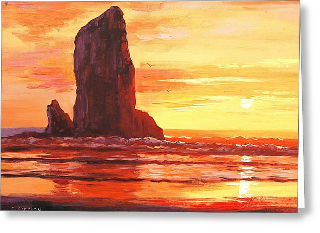 Coastal Sunset Greeting Card by Graham Gercken