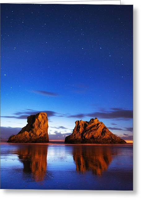 Pacific Ocean Prints Greeting Cards - Coastal Twilight Greeting Card by Darren  White
