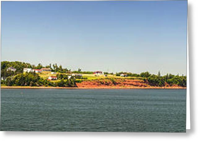 Ocean Panorama Greeting Cards - Coastal view of Prince Edward Island Canada Greeting Card by Elena Elisseeva