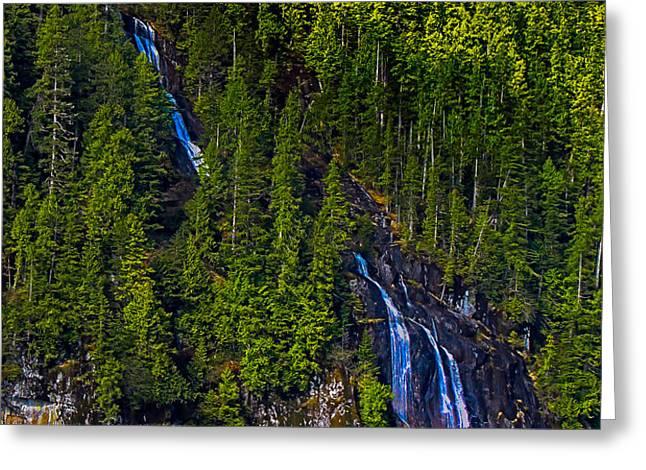 Coastal Waterfall Greeting Card by Robert Bales