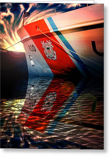 Homeland Greeting Cards - Coast Guard Cutter  Greeting Card by Aaron Berg