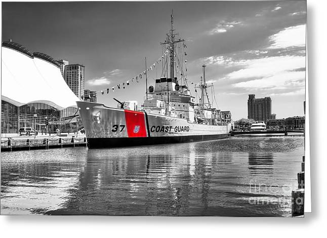 Coastguard Cutter Greeting Card by Scott Hansen