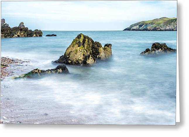 North Sea Greeting Cards - Coastline Greeting Card by Adrian Evans